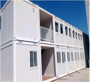 China Fast Build Container House Prefab ,  Duplex Prefab Shipping Container House For Living Office Dormitory on sale