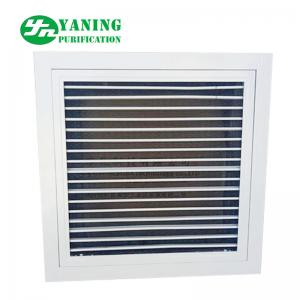 China Aluminum Alloy Air Filter Grille Air Duct Diffuser With Nylon Mesh Primary Filter on sale