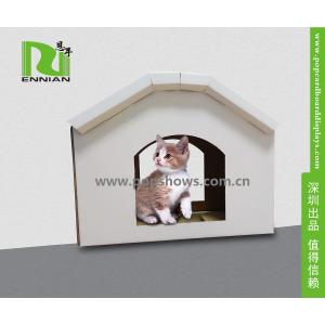 China Cuddly Stable Corrugated Cardboard Furniture Cat House Indoor Textured Surface Grinding Claws on sale