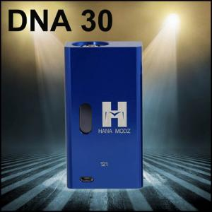 China 18650 Battery Hana Modz DNA30 Blue 4v - 8.3v with 510 / ego screw on sale