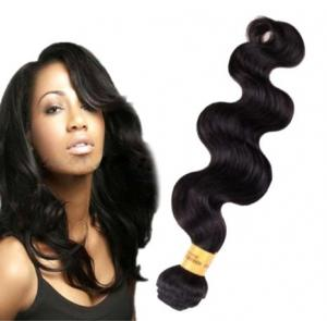 China Long Lasting100 Indian Human Hair Weave For Black Women Body Wave on sale
