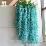 China UVG WIS006 Blue silk wisteria artificial flower for wedding and party decoration wholesale