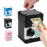 wholesale  Electronic Piggy Bank Safe Box Money Boxes  Digital Coins Cash Saving Safe Deposit ATM Machine  Christmas