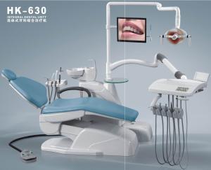 China Dental Chairs Equipment with dental operating light, Three way syringe HK-630 on sale