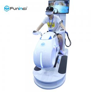 China White Color 9D Virtual Reality Simulator Multiplayer Car Driving Vr Motorcycle Racing 700KW on sale