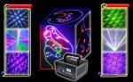 Мулти лазерный луч мерцания анимации РГБ цвета 550мВ