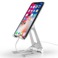 China COMER Adjustable portable and folding table aluminium tabletop phone hold for i phone tablet support stand holder on sale