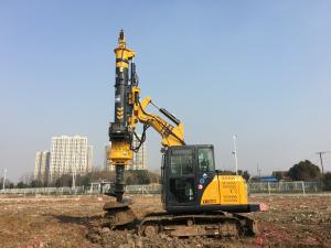 China Restructing Excavator Boom Modular Rotary Drilling Rig / Piling Driver Equipment on sale