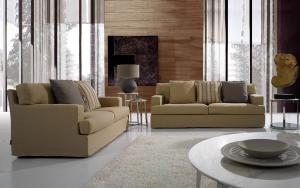 Quality European Style Modern Fabric Sofas set Home Furniture , 1 / 2 / 3 seat sofas sets for sale