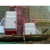 0-33m/min construction elevator / building lift  with rack and mast section
