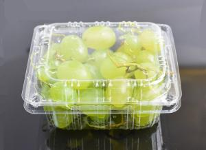 China High Clear Grape Box Disposable Plastic Fruit containers on sale