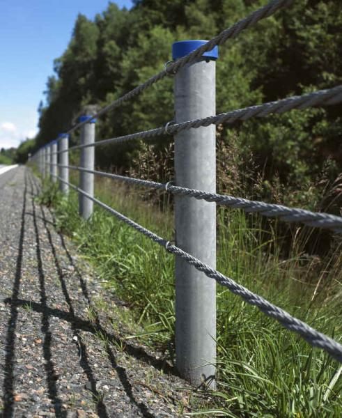 SAFENCE Slope Barrier,Wire Rope Safety Barriers,WRSF Road Barrier ...