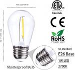 2700K E26 E27 S14 Filament Bulb LED Lights Vintage For Outdoor