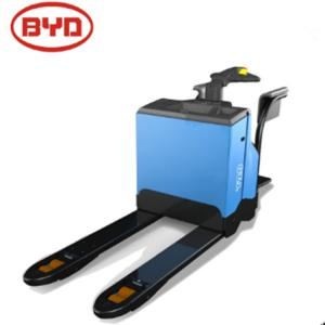China PU Wheel Electric Stacker Truck 2000kg Load Capacity 900mm Track Width Rear on sale
