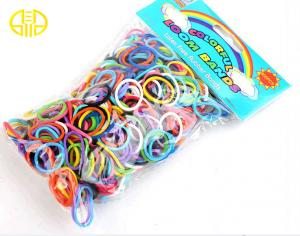 China Yellow brown Rainbow Loom Rubber Band colors For Educational Toy on sale