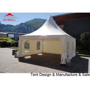 China 4x4m  double-PVC coated polyester textile pogoda  event  tent  with sidewall on sale