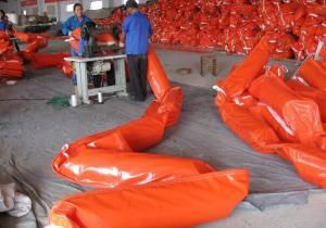 China Solid Float PVC Oil Boom/Oil Spill Boom /PVC Oil Containment Boom Rubber Oil Boom on sale