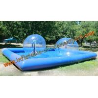 Blue Inflatable Human Sized Hamster Ball / Inflatable Walk On Water Ball