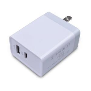 China US Travel Quick Charge 3.0 Charger White Color Type C PD Output Customs Silk Print Logo on sale