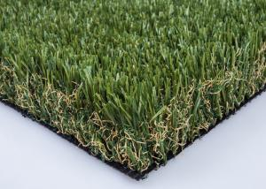 China Green S Shape Luxury Artificial Lawn Grass 50mm Non Glossy For Homes Yard on sale