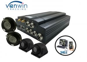 China HD CCTV Vehicle Camera 4 Channel Mobile DVR Car Tracking Onboard on sale