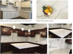 China Calacatta gold white quartz kitchen Countertops on sale