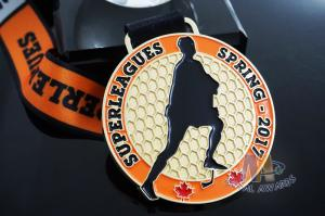 Quality 10k Custom Sports Medals With Soft Enamel Sublimated Ribbon For Canada Hockey for sale