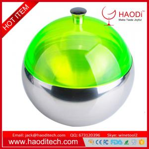 China Ultra Modern Round Food Grade 304 Stainless Steel Ice Bucket Storage Container on sale