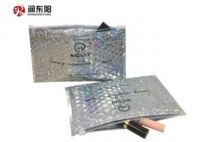 China Waterproof Metalic Poly Mailing Bags Zipper Bubble Punch Aluminum Foil For Cosmetics on sale