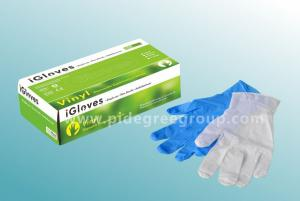 China Disposable vinyl examination glove, powdered, non-sterile, clear on sale