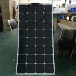 Waterproof SunPower Flexible Solar Panels , 100 Watt SunPower Marine Solar Panels