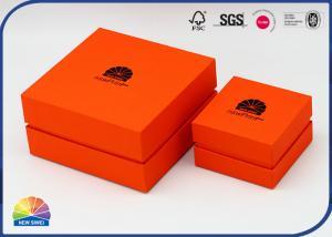 China 1200gsm CCNB Biodegradable Rigid Shoulder Box Logo Hot Stamping on sale