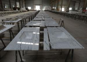China Popular Statuario Marble Tiles , Modern White Marble Vanity Countertops on sale