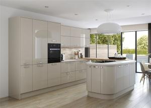 China L / U Shaped MDF Wood Veneer Kitchen Cabinets Moisture Proof Board Home Project on sale