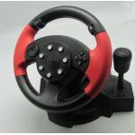 Jogo pequeno do PC da vibração de USB que compete o volante e os pedais do PC da roda