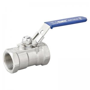 China Ss 1pc threaded ball valve with locked on sale