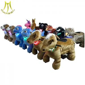 China Hansel wholesale animal designs coin operated plush animal riding carts factory on sale