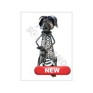 China Custom Mini Dog Iron Craft Decorative Solar Lighting for Squares and Yards on sale