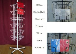 China 24 Landscape Wire Book Display Stands / Greating Card Wire Book Rack Display on sale