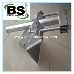 China Foundation Repair Steel ground screw Helical Piles and Brackets on sale
