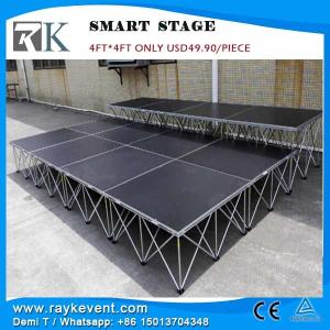 China RK Manufacture  4*4ft plywood portable music stage portable concert stage on sale