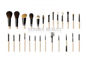 China Top Grade Custom 26Pcs Animal Hair Goat Hair Makeup Brush Set Powder Foundation Eye Makeup Brushes on sale