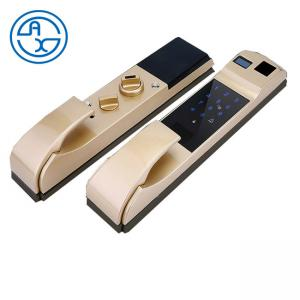 China Zinc Alloy Smart Home Shenzhen Factory Fingerprint Biometric Smart Card Automatic Door Lock intelligence Lock on sale