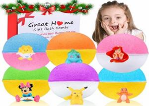 China Colorful Children 'S Bath Bombs With Surprise Inside / 6 XL Bubble Bath Fizz Balls on sale