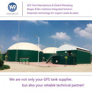 China CSTR Semi Aerobic Biogas Storage Tank , Bio Digester Tank Hydrolysis Process on sale