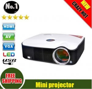 China 2500 Lumens LCD Projector 1080P Smart LED Portable Proyector With HDMI Cable on sale