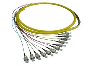 China Singlemode UPC Fiber Optic Pigtail with 12pcs FC Fiber Connectors on sale
