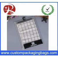 Underwear Packaging Pvc Hook Bag , Promotion Pvc Clear Bag Water Resistant