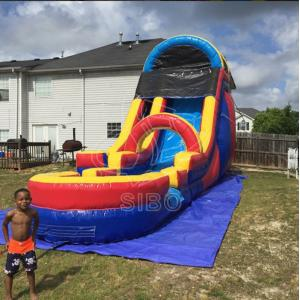 China 0.55+0.4pvc Beach Inflatable Backyard Water Slide For Kids , Bounce House Water Slide on sale