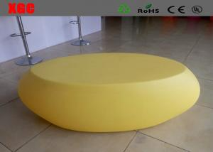 China Oval Shape Outdoor Table And Chairs Plastic Furniture 6 Mm Thickness on sale